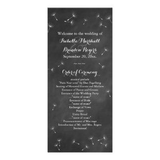 Floral Chalkboard Wedding Program Rack Card
