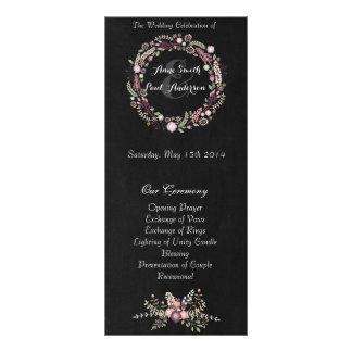Floral & Chalkboard wedding programs III