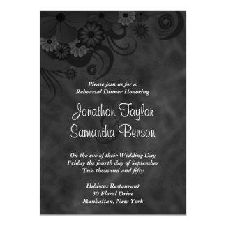 Floral Chalkboard Wedding Rehearsal Dinner Invites