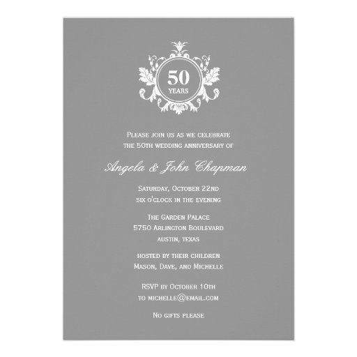Floral Charm Anniversary or Birthday Invitation -