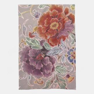 Floral checoslovaco del vintage toallas de cocina
