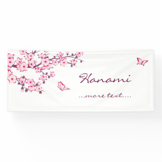 Floral Cherry Blossoms Banner