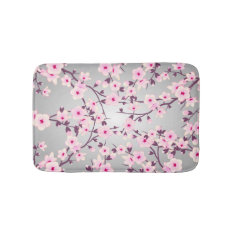Floral Cherry Blossoms Bath Mat at Zazzle