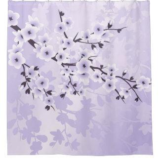 Floral Cherry Blossoms Classic Purple Shower Curtain