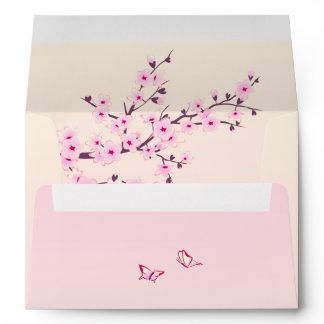 Floral Cherry Blossoms Envelope