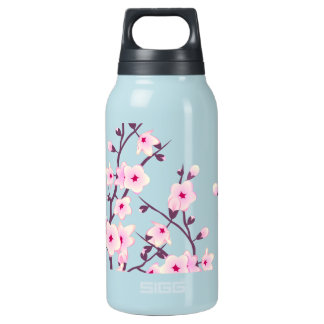 Floral Cherry Blossoms Insulated Water Bottle