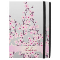 "Floral Cherry Blossoms Monogram iPad Pro 12.9"" Case"