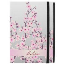 "Floral Cherry Blossoms Monogram iPad Pro 12.9"" Case"