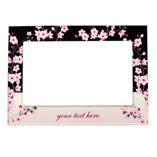 Black And Pink Floral Picture Frames Zazzle