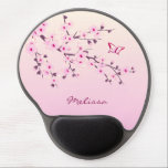 "Floral Cherry Blossoms Pink Personalize Gel Mouse Pad<br><div class=""desc"">Feminine cherry blossoms for women who love flowers and floral asian designs. floral flowers cherry blossoms pink girly elegant decorative asian japan japanese modern stylish trendy digital vector design sakura chic classy sakura monogram name personalize pretty nature</div>"