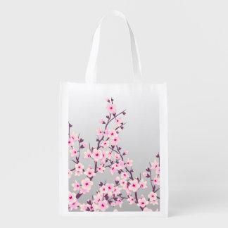 Floral Cherry Blossoms Reusable Bag
