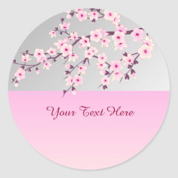 Floral Cherry Blossoms Sticker