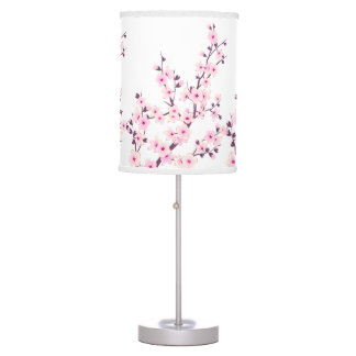 Floral Cherry Blossoms Table Lamp