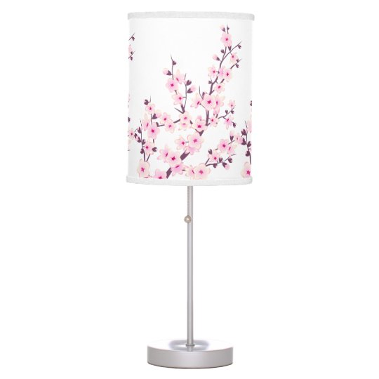 Floral Cherry Blossoms Table Lamp Zazzle Com