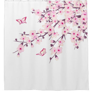 Shower Curtains cherry blossom shower curtains : Japanese Flowering Cherry Shower Curtains | Zazzle