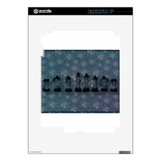 Floral Chess iPad 2 Skins