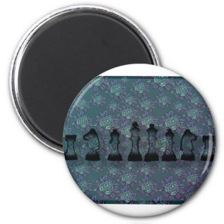 Floral Chess Magnet