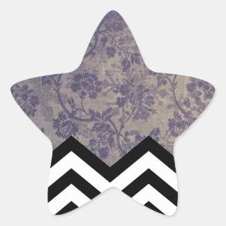 Floral Chevron Star Sticker