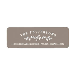 Floral Chic Address Label | Neutral