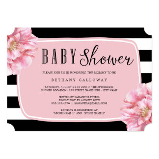 Floral Chic Baby Shower Invitation / Pink