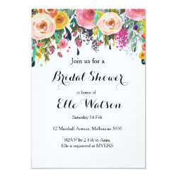Floral Chic Bridal Shower Invitation
