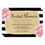 Floral Chic Bridal Shower Invitation / Champagne