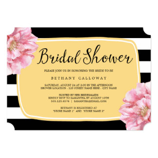 Floral Chic Bridal Shower Invitation / Yellow