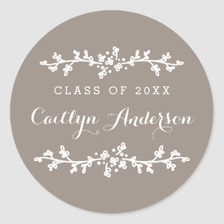 Floral Chic Personalized Grad Envelope Seal