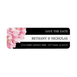 Floral Chic Save the Date Return Address Labels