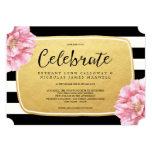Floral Chic Wedding Invitation / Gold