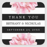 Floral Chic Wedding Thank You Favor Stickers at Zazzle
