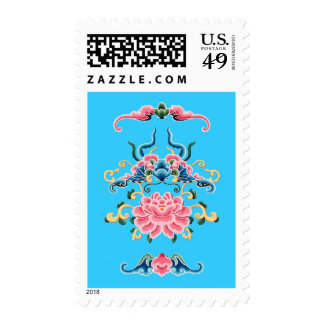 Floral Chinese design Stamps