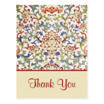 Floral chinese ornament Postcard
