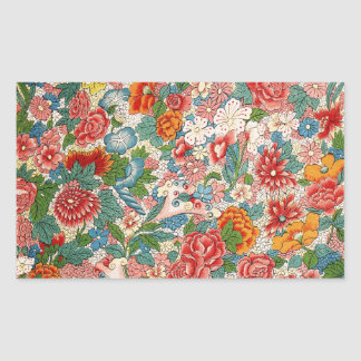 Floral chinese ornament Rectangle Sticker