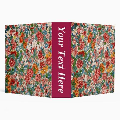 "Floral Chinese pattern 2"" Binder"