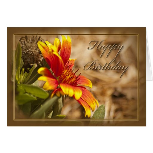 Floral Christian Birthday Card