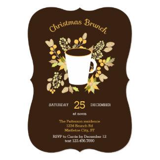 Floral Christmas Brunch Invitation