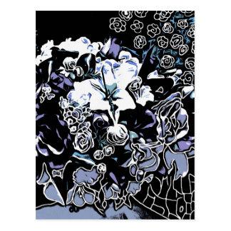 Floral Chrome Postcard