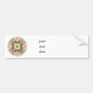 Floral Circle Bumper Stickers