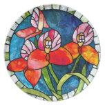 Floral Circle Nouveau Dinner Plate