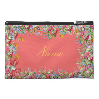 Floral classic travel accessory bag