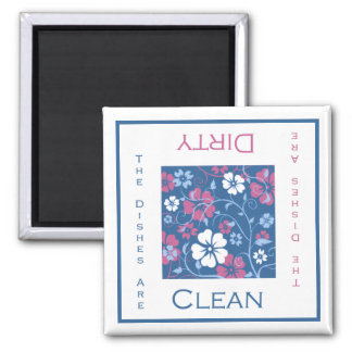 Floral Clean or Dirty Dishwasher Magnet