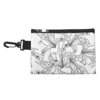 floral Clip On Accessory Bag