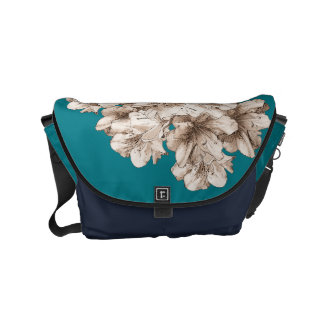 Floral Coffee Brown Illustrated Flower + Color Small Messenger Bag