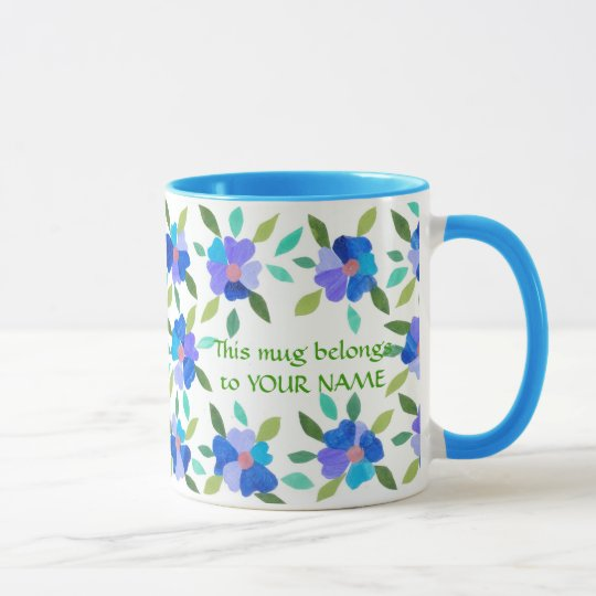 Floral Coffee Mug to Personalise