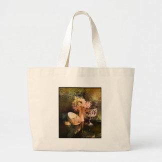 Floral Collage Canvas Bag
