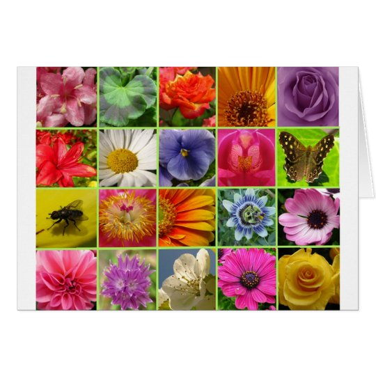 floral collage card