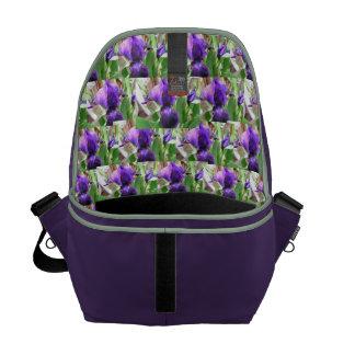 Floral Collage Interior Rickshaw Messenger Bag
