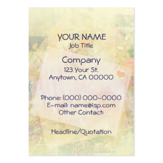 Floral Collage Love Notes Business Card Template
