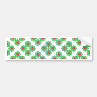 Floral Collage Pattern Bumper Sticker